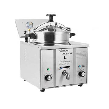 5 Star Hotel Kitchen Equipment Table Top Pressure Fryer